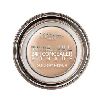 L'Oréal Paris Infaillible 24H Correttore Viso in Crema a Lunga Tenuta, 01.5 Light Medium - 2
