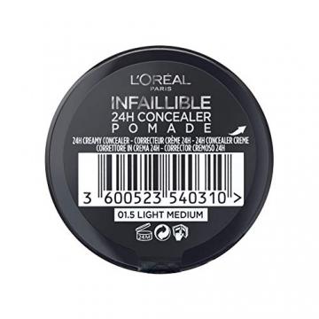 L'Oréal Paris Infaillible 24H Correttore Viso in Crema a Lunga Tenuta, 01.5 Light Medium - 3