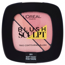 L'Oréal Paris Infaillible Sculpt Trio Contouring Blush, 101 Soft Rosy - 1