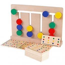 Lorenlli Giochi in legno a 4 colori Montessori Illuminismo Insegnamento ausili Giocattoli per bambini - 1