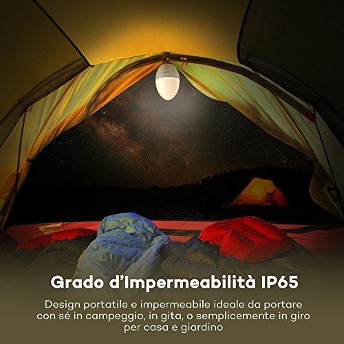 Luce LED Notturna per Bambini VAVA, Impermeabilità IP65, Sicura Struttura in ABS + PP, Resistente agli Urti, Fino a 80 Ore d'Autonomia, Luminosità Colore Regolabili, Controllo Tattile - 1