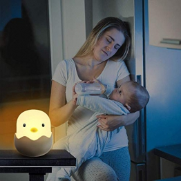 Luce Notturna, Tecboss LED Luci Notturne per Bambini, ABS Sicuro + PP, Luminosità Regolabile, Eye Caring LED, Perfetta per la Camera da Letto del Bambino Alimentazione del Bambino - 1