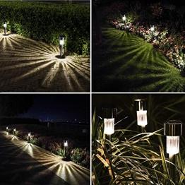 Luce Solare LED Giardino , KOREY 10 Pezzi Luci Paesaggio Esterno Luci Solari Sentieri Impermeabile a Risparmio Energetico LED Lampada Solare In Acciaio Inox Perfetto per Patio, Giardino e Percorso - 1