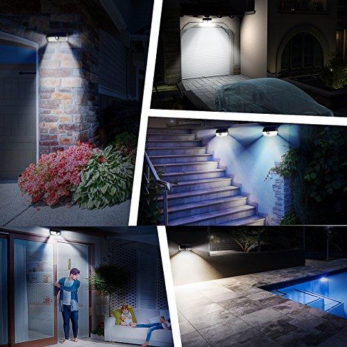 Luce Solare Mpow 30 LED, IP67 Impermeabile, Luci Solari con Sensore di Movimento, Luce Solare Giardino, Super SunPower Pannello Solare, 1800mAh Lampada Solare Esterni Per Giardino, Parete, Cortile ecc - 1