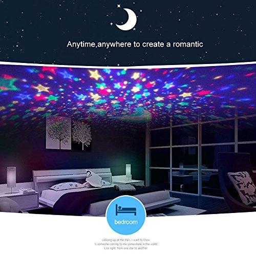 Luci notturne per bambini, Proiettore stelle per luce notturna, Lampade decorative per la casa, Baby Nursery Mood Night Lamp For Baby Bambini Bambini Ragazze Ragazzi Adulti Camera da letto (ROSA 2) - 1