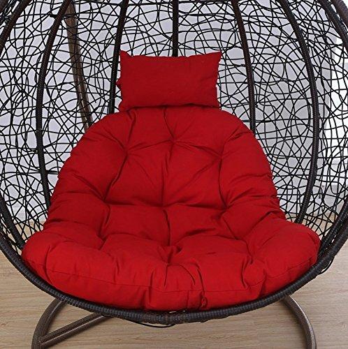 LUMBAR Sedia sospesa Swing Cestino Culla Nido Stuoia di Cesto Cuscino per Sedia a Dondolo Adulto sedie in Vimini Coperta Balcone Pad(Senza la Sedia)-F 105x105cm(41x41inch) - 1