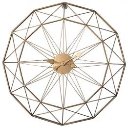 LVPY Orologio da Parete Rotondo Ø60 cm, Orologio da Muro Design Vintage in Metallo Decorativo, d'oro - 1
