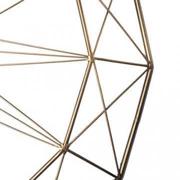 LVPY Orologio da Parete Rotondo Ø60 cm, Orologio da Muro Design Vintage in Metallo Decorativo, d'oro - 2