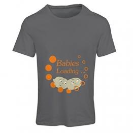 Maglietta Donna I Bambini Stanno caricando! - Top di maternità Carina, Vestiti Divertenti di Gravidanza (Large Grafite - 1