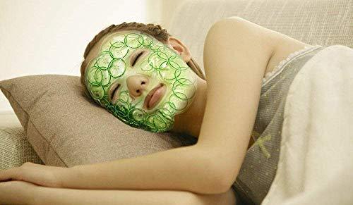 """Maschera facciale per il viso riutilizzabile impacco, terapia calda o fredda cerotti frozen con di gel, flessibile, non tossica, per acne, gonfiore di viso e occhi, rilassamento, 8.3""""x 28.3"""" - 1"""