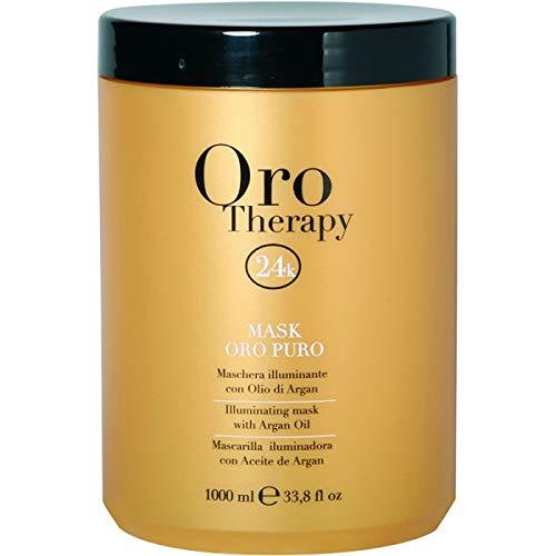 Maschera Oro Puro 1000 ml Con Cheratina ed Argan - Fanola Oro Therapy 24k - 1