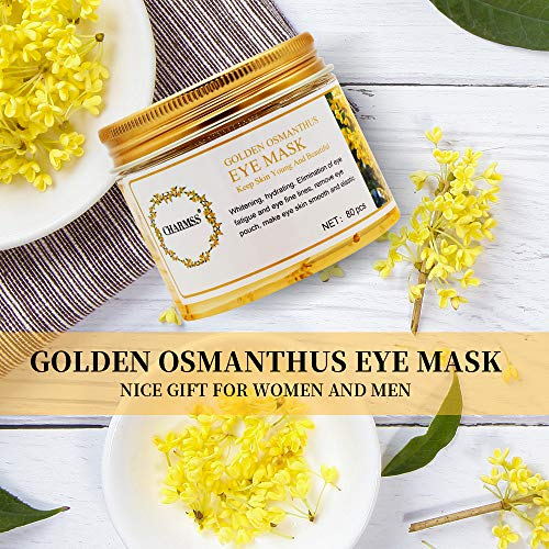 Maschera per gli occhi, Golden Osmanthus d'occhio del collagene Maschera d'occhio Resistenza alle rughe Anti-età, Riduzione Contorno Occhi Occhiaie Puffiness, Schiarire le rughe per gli occhi (40paia) - 1