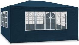 Maxx 3 x 4 m Gazebo da Giardino Impermeabile/Tenda da Giardino Gazebo da Giardino/Regolabile/Gambe, per Giardino/Festa/Matrimonio/Picnic, UV30 +, pareti Laterali, Blu - 1