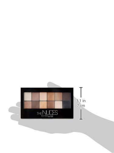 Maybelline New York The Nudes Palette Ombretti, 12 Colori Sulle Sfumature del Nudo, Finish Mat, Satinato e Perlato - 1