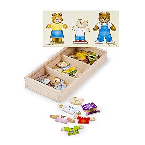 Melissa and Doug Puzzle in legno Vesti la famiglia Orsi - 1