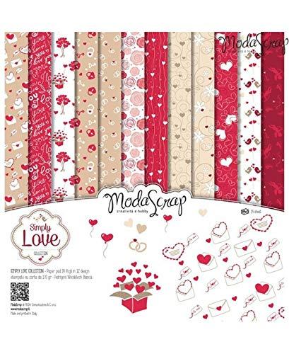 Moda Scrap Set Carta Ms 30x30 Fg.24 Gr.170 Simply Love - 1