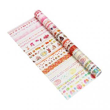 Molshine Washi Tape, nastro adesivo di carta per fai da te, artigianato decorativo, confezioni regalo, scrapbook 30-668 - 1