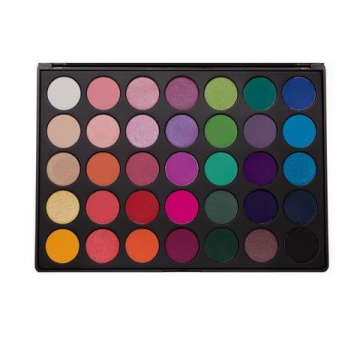 Morphe Pro 35 Color Eyeshadow Makeup Palette - GLAM (High Pigmented) 35B by Morphe Brushes - 1