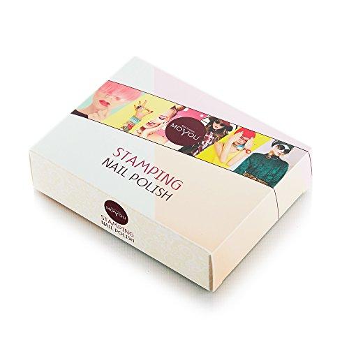 MoYou Nails-Set di 3 Stamping-Smalto: utilizzati per creare bellissimi Nail Art proveniente direttamente dalla fabbricazione-Confezione da 1 - 1