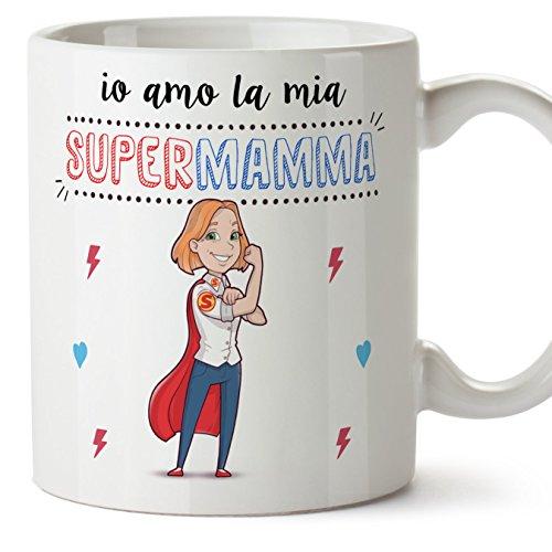 Mugffins Madre - Tazza Super Mamma Migliori del Mondo– Idee Regali Originali Festa della Mamma - 1