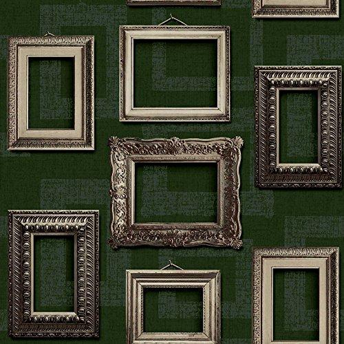 Muriva L35104cornice vintage Wallpaper–verde - 1