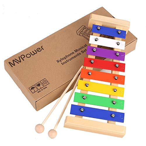 MVPOWER Xilofono di Legno Giocattoli Musicali per Bambini,Percussioni per Bambini,Educativo Giochi Musicali per Bambino delle Ragazze dei Ragazzi - 1