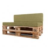 MY PALLET, SET di Cuscini (Seduta e Spalliera) per Pallet Componibili, Personalizza Misure Colore e Tessuto - 1