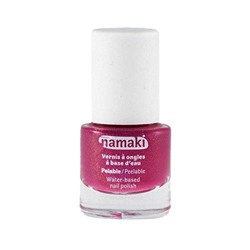 NAMAKI - Smalto a base acquosa - Fucsia - Facile da applicare - Asciuga rapidamente - Nessun additivo chimico nocivo - 7,5 ml - 1