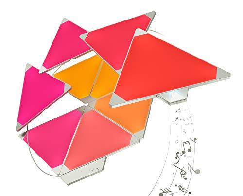 Nanoleaf Aurora Smarter Kit 15 Pannelli LED RGBW, 16.7 Millioni di Colori, 2 W, con Modulo Aurora Rhythm - 1