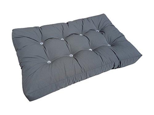 Natalia Spzoo® Cuscini materassi per bancali (Sedile, Antracite) - 1