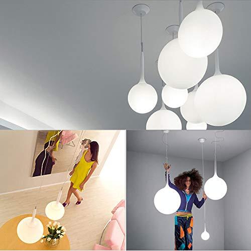 Nclon Moderno Semplice Creativo Soffitto,Vetro Palla Lampada a sospensione Lampada da soffitto Confezione singola Salotto Camera da letto E27 Portalampada Lampadina non inclusa-Diametro 15 cm - 1