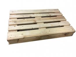 NUOVO PALLET bancale da 80 x 120 cm in legno di colore naturale - 1