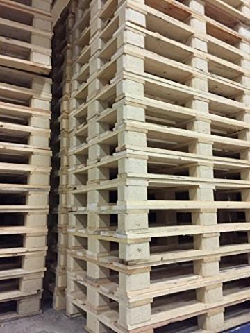 NUOVO PALLET bancale da 80 x 120 cm in legno di colore naturale - 2