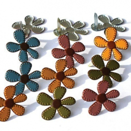 Occhiello Outlet cucito Brads autunno fiori - 1