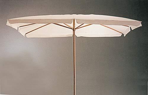OMBRELLONE IN LEGNO CM. 200X300-6-48 BIANCO Cartomatica Confezione da 1PZ - 1