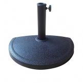 Ombrellone Mezzaluna a parete salvaspazio tondo Ø 270x254H cm in alluminio colore ecrù - 1