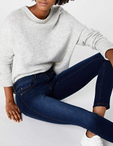 Only 15077791/SKINNY SOFT ULTIMATE 201, Jeans donna, Blu (Dark Blue Denim), S/L32( S) (Talla produttore: S) - 1