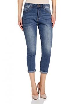 oodji Ultra Donna Jeans Boyfriend a Vita Media, Blu, 27W / 32L (IT 42 / EU 38 / S) - 1