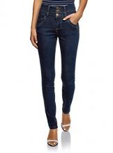 oodji Ultra Donna Jeans Skinny a Vita Alta, Blu, 27W / 32L (IT 42 / EU 38 / S) - 1