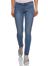 oodji Ultra Donna Jeans Skinny a Vita Bassa, Blu, 27W / 32L (IT 42 / EU 38 / S) - 1