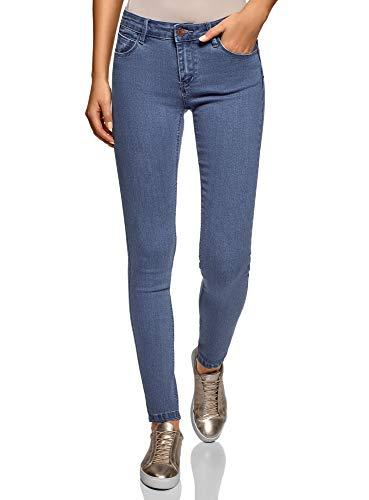 oodji Ultra Donna Jeans Skinny Basic, Blu, 30W / 32L (IT 48 / EU 44 / XL) - 1