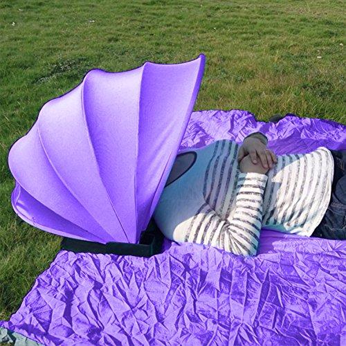 Outdoor Beach personale protezione solare ombrello mini PVC viso ombra freddo della tenda per spiaggia estate ombrello Purple - 1