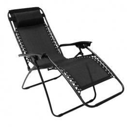 Oypla 2X Pieghevole reclinabile da Giardino Sedia a Sdraio Sdraio da Spiaggia Zero Gravity - 1