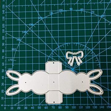 P12cheng Fustelle,Metallo Stencil,Cutting Dies,Stencil di Carta Scrapbooking Fai da Te in Metallo con Taglio a dadini in Metallo con Coniglietto Effetto 3D Silver - 1