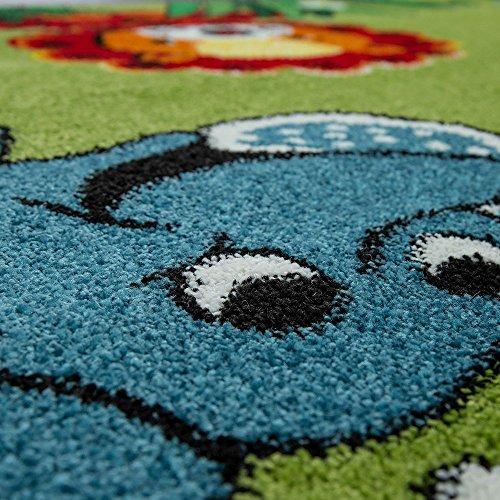 Paco Home Tappeto per Bambini Pelo Corto Giungla con Animali Verde, Dimensione:80x150 cm - 1