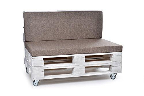 PadsForAll - Cuscini per mobili da Giardino, Anche con Schienale, in Poliestere, Impermeabili e Resistenti, Colore: Crema - 1