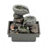 Pajoma 18430.0 - Fontanella da interni con pietre, in poliresina, 25 cm - 1