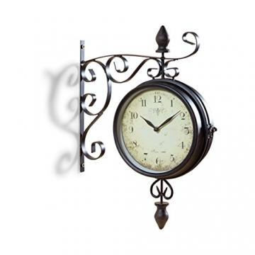 Pajoma 47929, Orologio da Parete Vintage, con quadrante su Entrambi i Lati, Nero (Schwarz) - 1