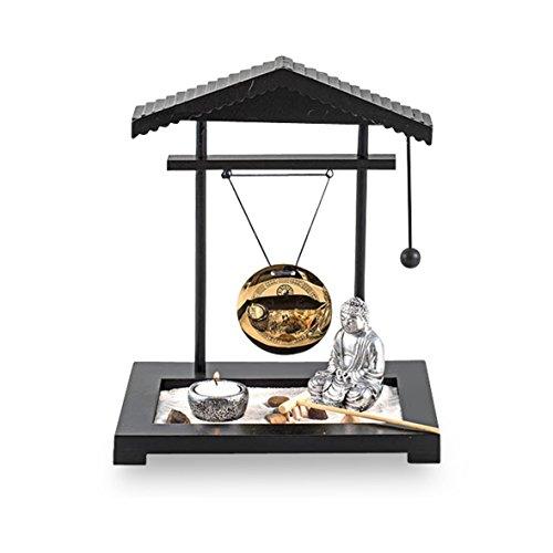 Pajoma, 58287, Giardino zen con statuetta di Buddha, in plastica, altezza: 30 cm - 1