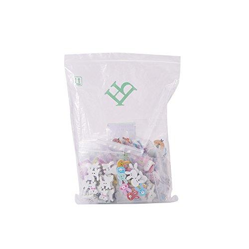 PandaHall Elite 300 Pezzi Bottoni in Legno 2-Foro per Decorazioni Cucito Scrapbooking Artigianato Fai da Te, Colore Misto, 16 ~ 35x16 ~ 40x2,5 ~ 5mm, Foro: 1 ~ 2mm, 20 pezzi / tipo, 300 pezzi / set - 1